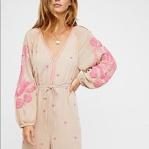 Free People Embroidered jumpsuit